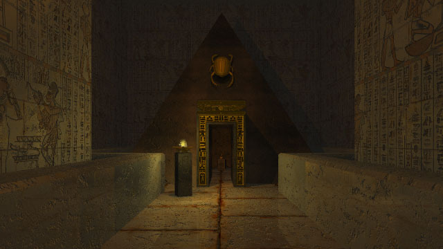Undisclosed area in Riddle of the Sphinx