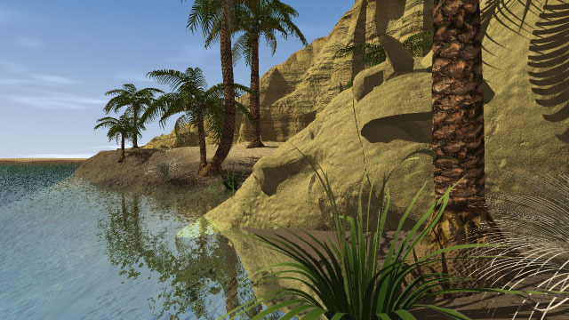 Lost temple paradise in Riddle of the Sphinx