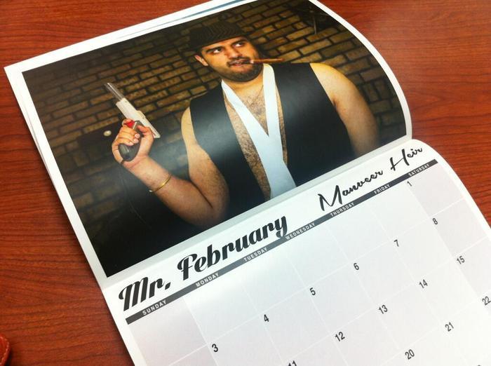 A shot of Manveer Heir in last year's calendar.