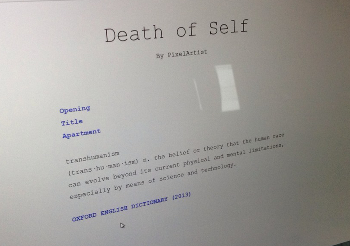 The first prototype of LAST LIFE (Note the existentially angsty working title).