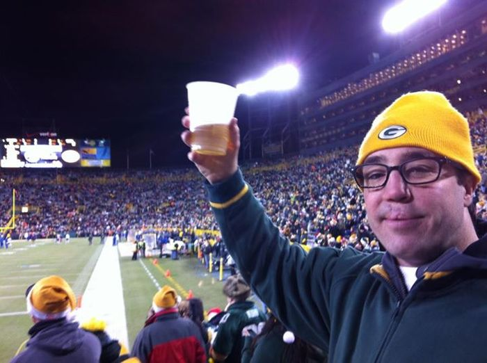 Patrick at Lambeau Field December 2011
