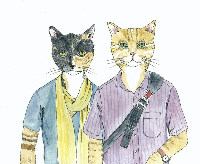 The $150 reward includes your animal portrait. Click here to see some recent portraits I've done of people as cats.