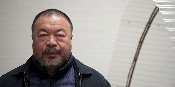 Ai Weiwei at his studio in Beijing, 2014; photo: Jan Stürmann
