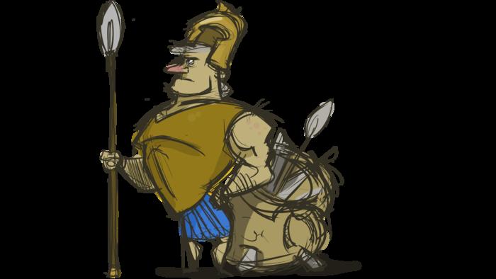 Guard Gregorius, keeping the docks of Lemnos safe!