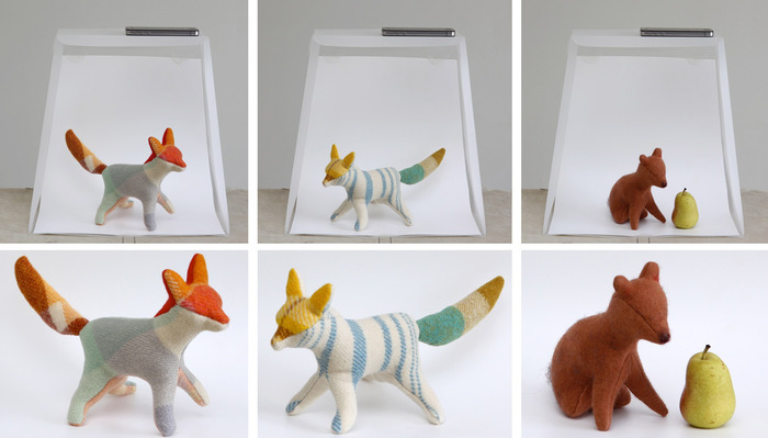 Foxes by Cobbled Together.etsy.com