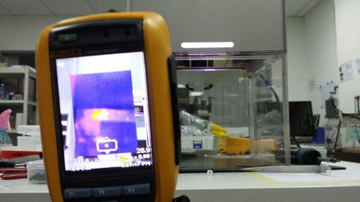 Heat emission testing #2