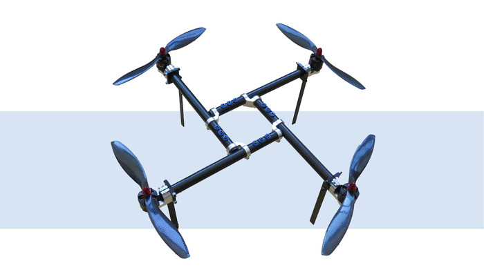unique lightweight frame its self supporting carbon frame is a proprietary design never before utilized on quadcopters it makes transportation and