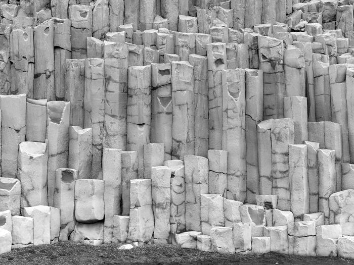 Basalt columns, south coast of Iceland.
