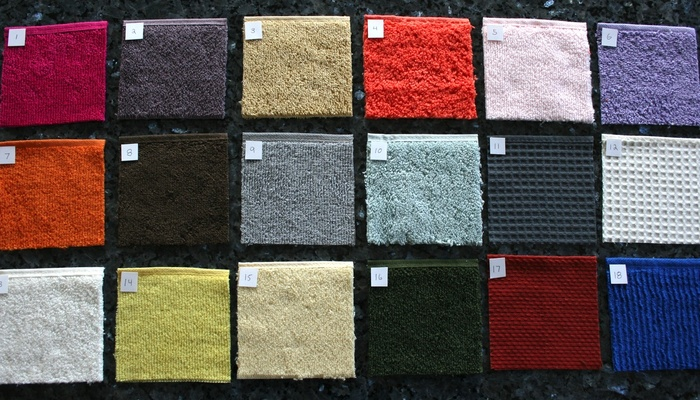 Samples of different materials and patterns we considered to Manufacture Clingies™ with.