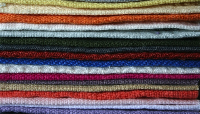 The hemmed edge of the different towels. All so similar yet so different.