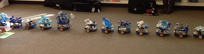 Robots on parade