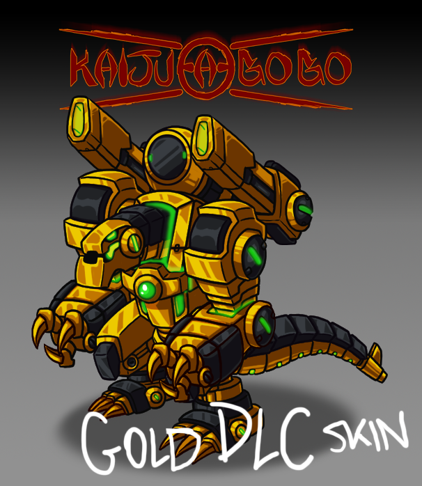 Kaiju-a-Gogo gold dlc skin for WIndows PC Mac Linux Android