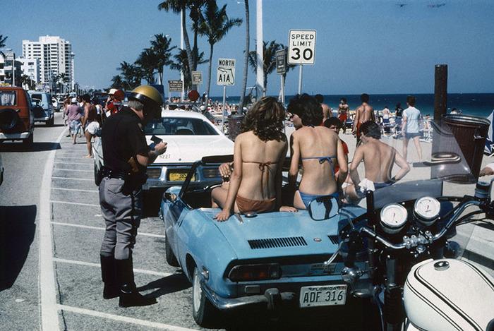 Cop and Bikini Girls, Ft. Lauderdale, Florida 1979