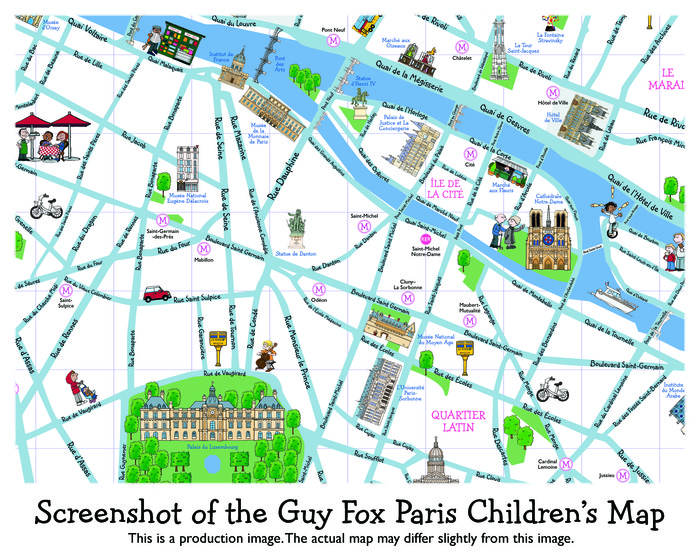 Guy Fox Paris Children's Map By The Team Richard Haberkern: Children S Map Of London At Infoasik.co