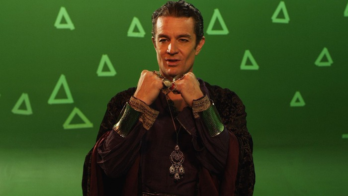 Note the Beautiful Necklace and Stunning Arm Bracers