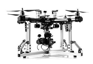 This is an aerial drone. Super futuristic and awesome.