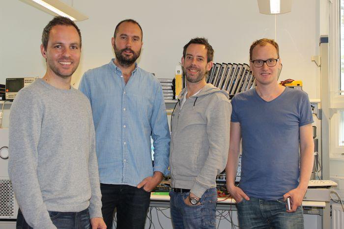 From left; Olle Lindén, Kiril Trajkovski, Per Sennström, Carl Ståhl