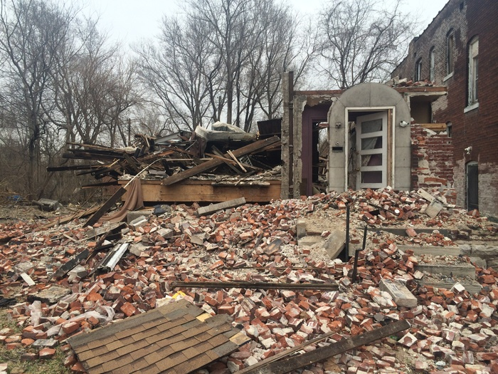 Demolished House in East St. Louis