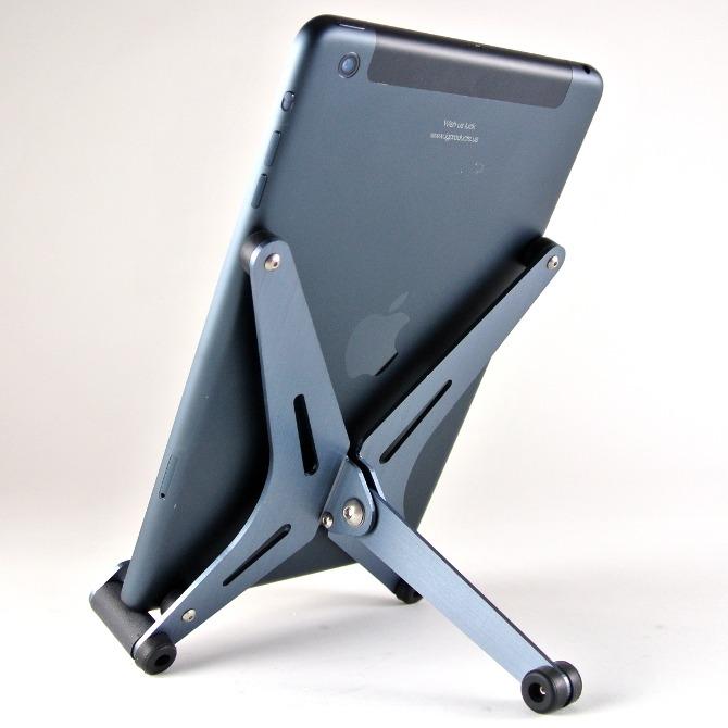 Gun Metal F2 shown with an iPad Mini
