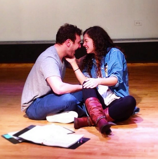 Richie (Matt Kestenbaum) and Chelsea (Eliza Palasz) from our reading at Northwestern last April