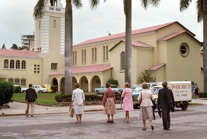 Missionaries go to Church, Guatemala City, Guatemala 1978