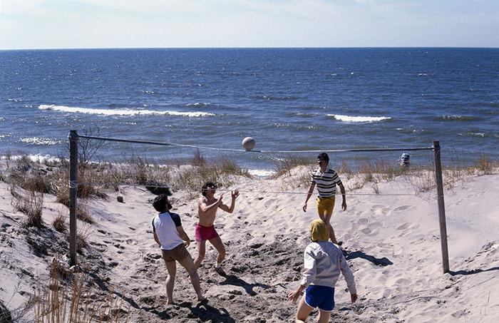 Volleyball Hangs in Balance, Lake Michigan, Michigan 1978