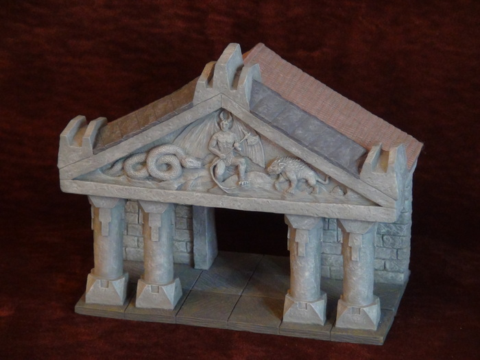 The Temple - Evil Side of Pediment (Hand Painted)