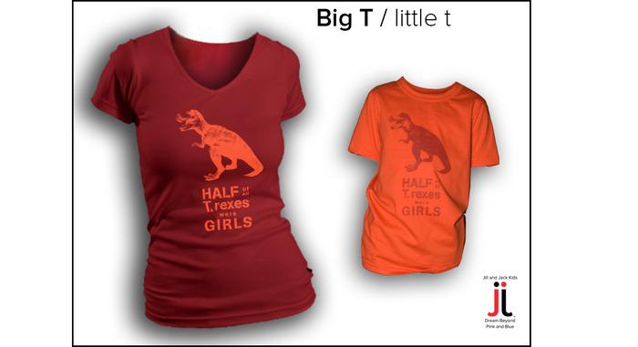 Jill and Jack Kids T. Rex shirt
