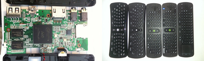 Dual core PCB and air mouse remotes tested