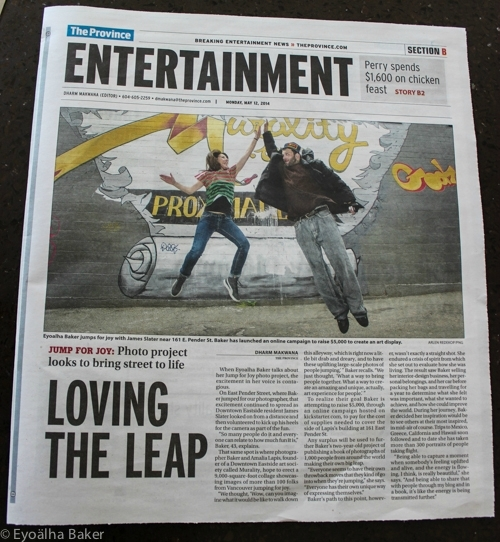 The Province - Loving the Leap