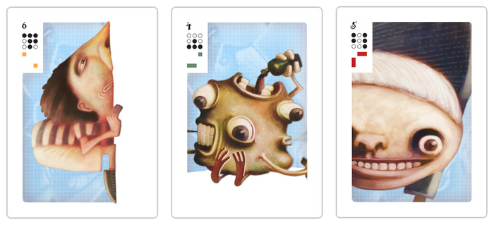 Studies for the Mesa playing cards.