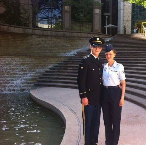 Wife and I at her Air Force Graduation
