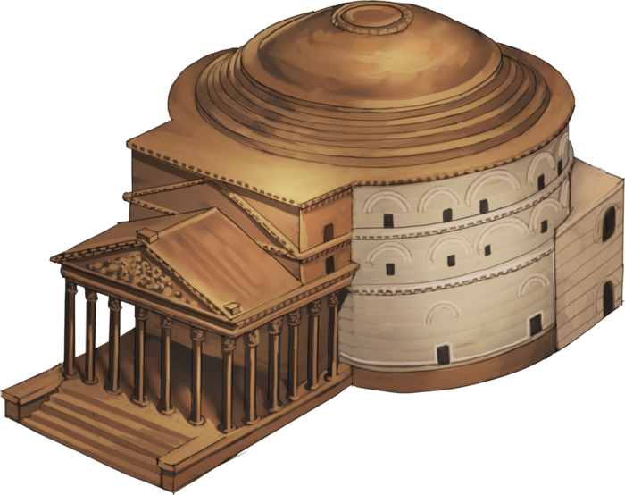 Wood Elevation Model : Images about history exam pantheon miniature scale