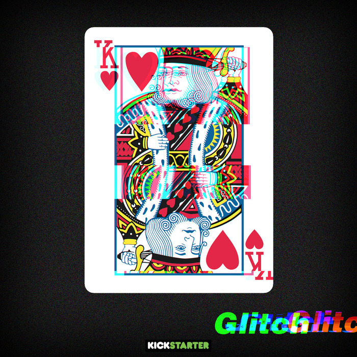 GLITCH Playing Cards by Soleil Zumbrunn