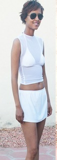 SHEER COVER ($50 Reward Level) ** Bikini top and bottom not included**, Available in Black and White.