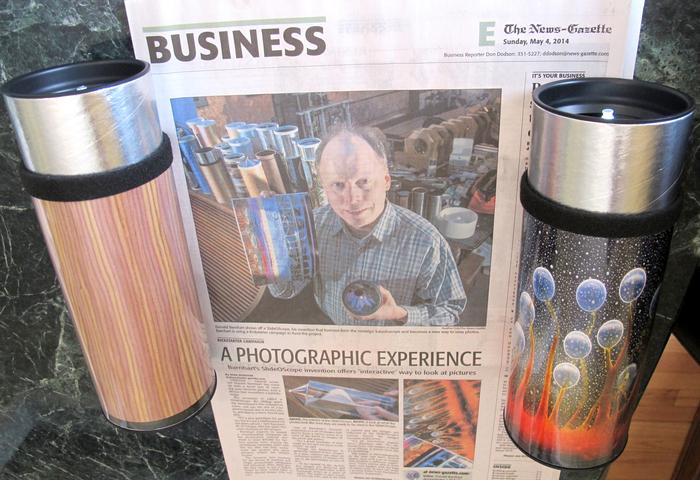 SlideOScopes Beside News-Gazette Article
