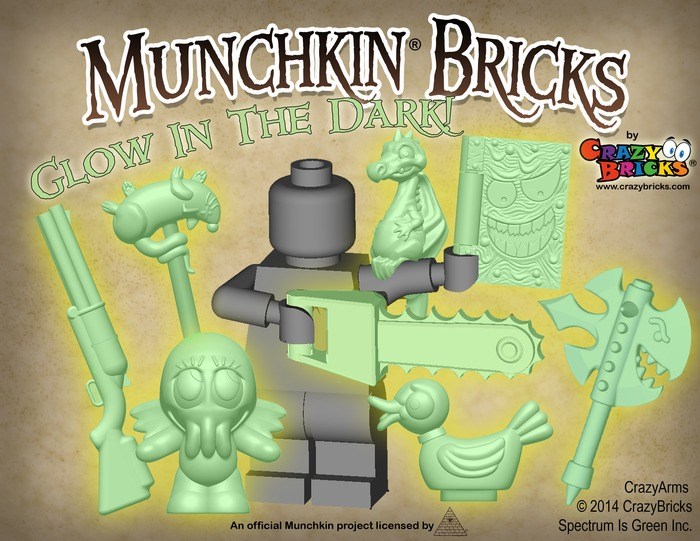 Munchkin Bricks glow in the dark!
