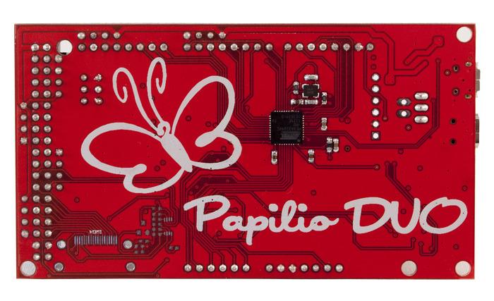 Papilio DUO Back - Arduino Leonardo Compatible Side