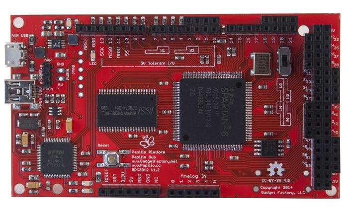 Papilio DUO Front - FPGA Side