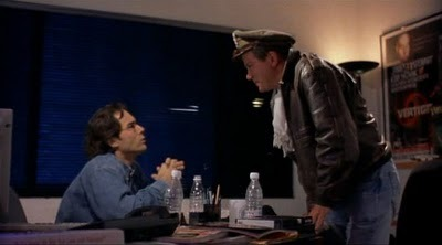 GEEKING OUT: Bill Shatner visits Mark (Eric McCormack) at the GEEK Magazine offices in FREE ENTERPRISE, the original motion picture.
