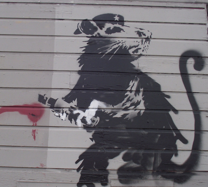 This is the Banksy that we are trying to save and restore. Our intentions are for it to be placed in a public institution or museum for future generations to enjoy.