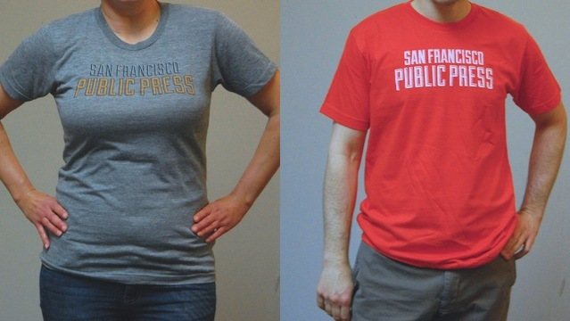 Spiffy gray T-shirt   •   It comes in orange, too!