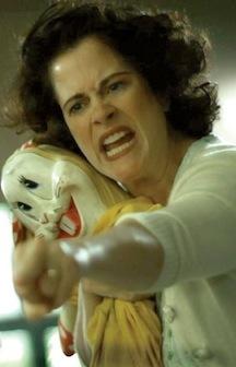 """Lesleh Donaldson as Evelyn """"Evil Lynn"""" Dyck"""