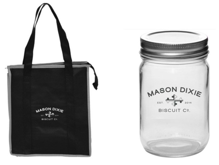 "Insulated Tote & Mason ""Dixie"" Jar"