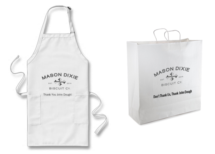 Sponsored Apron & To-Go Bags