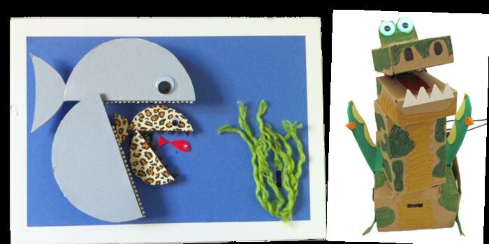 Example Robots Built from Arts & Crafts materials