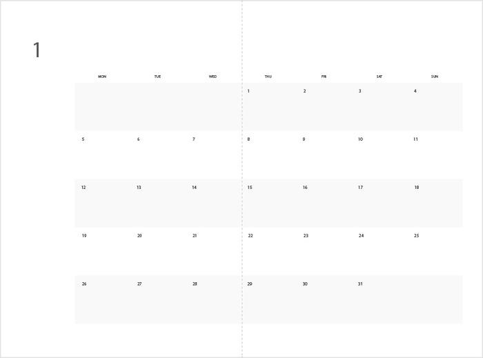 Minimalist design of Magplanner(Monthly)