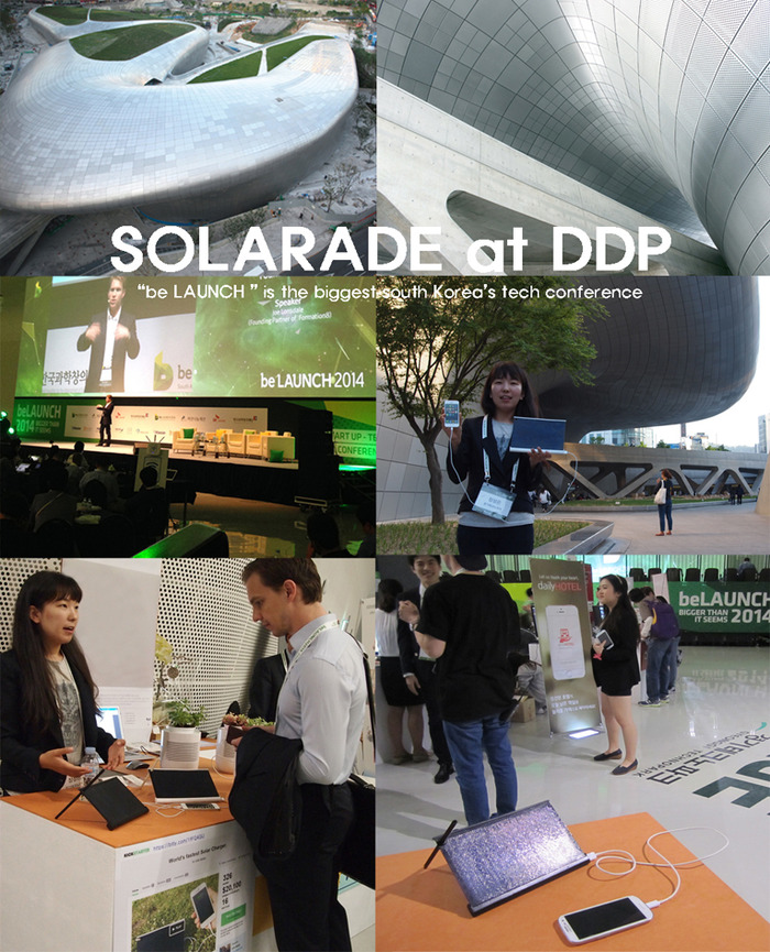 """SOLARADE participated at """"be LAUNCH"""" the biggest tech conference in South Korea."""