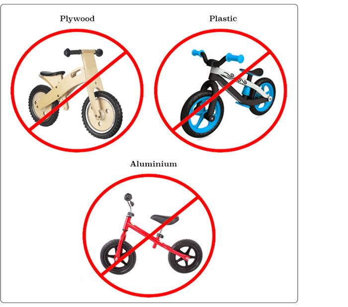 Non-sustainable balance bikes