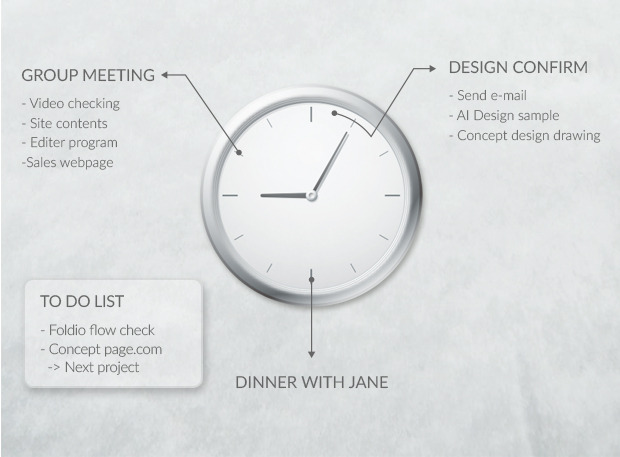 Inspired by the way clocks display a day